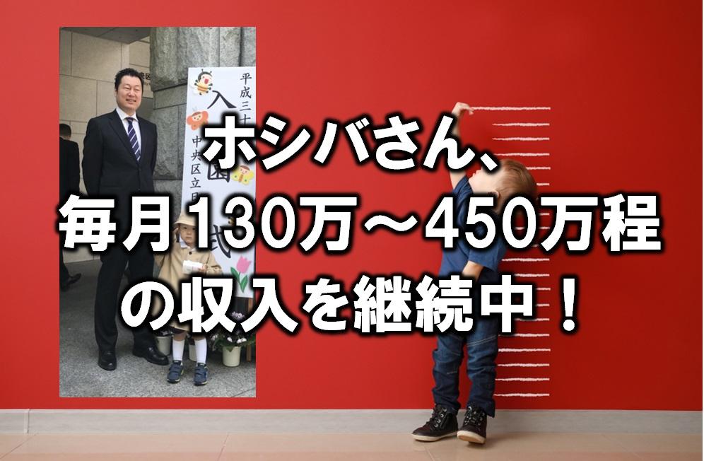 【せどり情報発信】ホシバさん、毎月130万~450万程の収入を継続中!